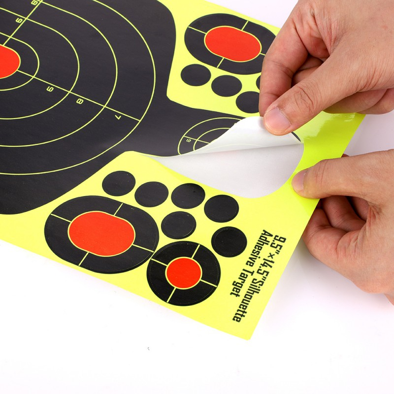 50pcs pack Shooting stickers Splatter Targets Self Adhesive labels Paper Silhouette Reactive Target Sticker for Gun Rifle in Stationery Stickers from Office School Supplies