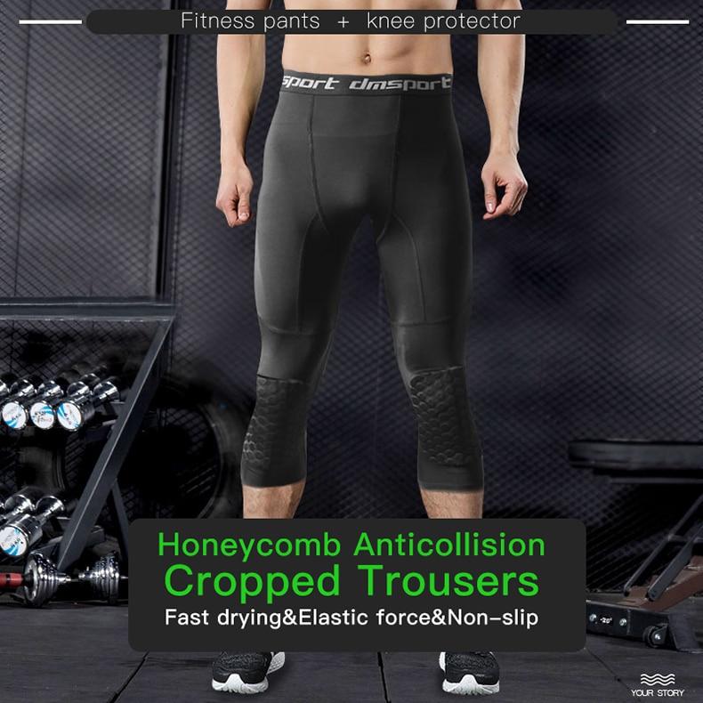 Honeybomb Kiper Pria Dipotong Celana Lari Pria Celana Ketat Kompresi Olahraga Legging Gym Kebugaran Pelatihan Basket Celana Aliexpress