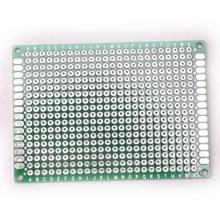 Glyduino 5*7 см двухсторонний спрей жесть Универсальный Эксперимент Панели печатная плиты отверстие пластины