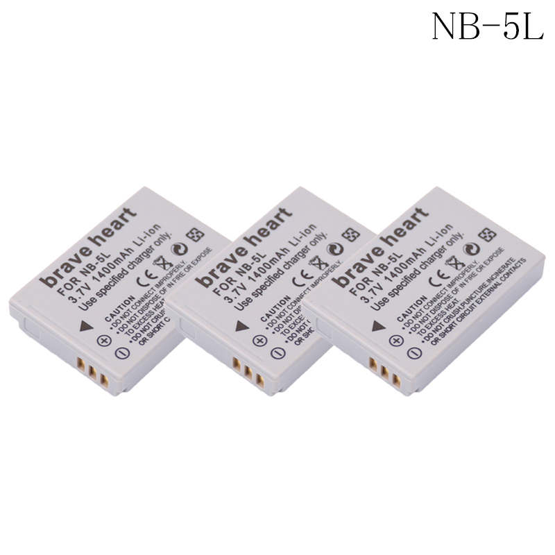 3x NB-5L NB 5L NB5L <font><b>Battery</b></font> for <font><b>Canon</b></font> PowerShot S100 S110 SD950 SD970 SD990 SX200 SX200IS SX210 IS SX210IS SX230 HS <font><b>SX230HS</b></font> image