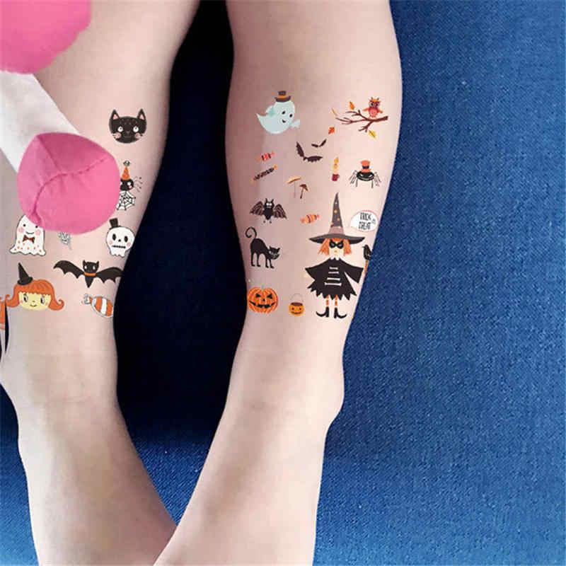 Balleenshiny 2019 Nieuwe Halloween Tattoo Sticker Kids Mermaid Stickers Eco Vriendelijke Grappige Cartoon Kind Tattoo Sticker Eenmalige