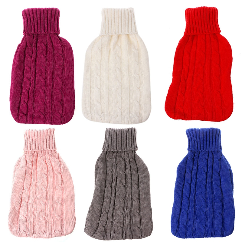 2000ml Filled With Water Hot Water Bottle Knit Flannel Super Knit Flannel bags sea tide print antislip flannel water absorb rug