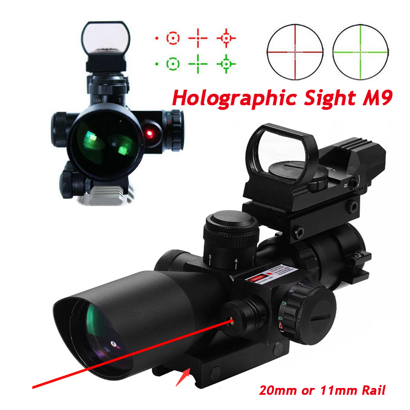4 Reticle Holographic Sight 2.5-10 x 40 Red Laser Riflescopes Hunting Optics Laser Sight Red Green Reticle Sight 11mm Or 20mm 556 a sight style holographic red