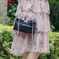 Genuine Leather Women Clutch Bag Handbag Fashion Crocodile Pattern Evening bag Female Brand Shoulder Bag Messenger Bag~18B13
