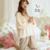 Alta qualidade 100% flor de Algodão pijamas das mulheres definido J0003