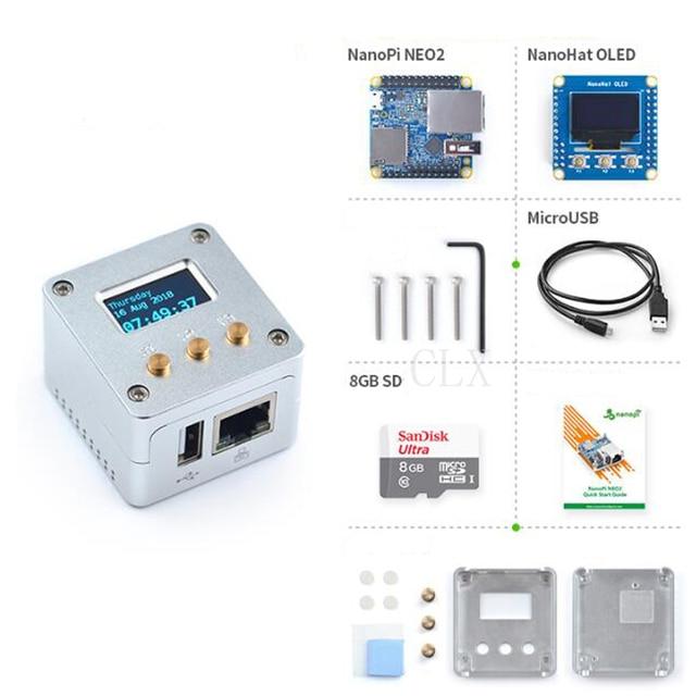 Nanopi NEO2 All Metal Aluminum Housing Kit with OLED Display Ubuntu v1.1 LTS Development Board Faster than Raspberry PI 40X40mm