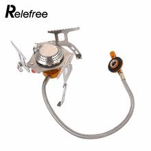 Folding Outdoor Gas Stove Camping Stoves Portable Gas Electronic Stove with Box Portable Outdoor Foldable Split Stoves