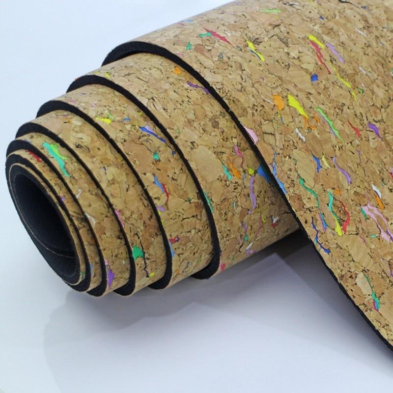 5mm Cork Natural Rubber Yoga Mat Fitness Women Men Pilates Mat Gymnastics Pad Cushion Sport Mat Tasteless 183cm*68 Cm