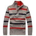 Masculino outono e inverno da marca sweter dos homens camisola de espessamento pulôver ocasional homens ponte de gola alta de malha blusas de lã 55