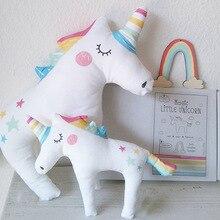 RAINBOX New Unicorn Plush font b Toy b font Cute Sleeping Pillow Soft Stuffed Plush Animals