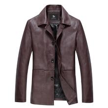 2019 hot fashion men's slim Fit high-grade leather jacket motorcycle clothing leather jacket coat windproof Plus size S-3XL