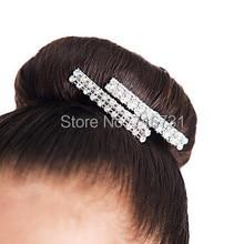 Hair Clip Pin Elastic Silver Rhinestone Styling Tools Fashion Children Hairgrip Cute Head Decorations Accessories For Hair