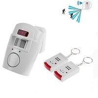 Kablosuz uzaktan kumandalı Mini alarmı IR kızılötesi hareket sensör dedektörü ve 105dB yüksek sesle Siren ev güvenlik anti hırsızlık|Sensör ve Dedektör|Güvenlik ve Koruma -