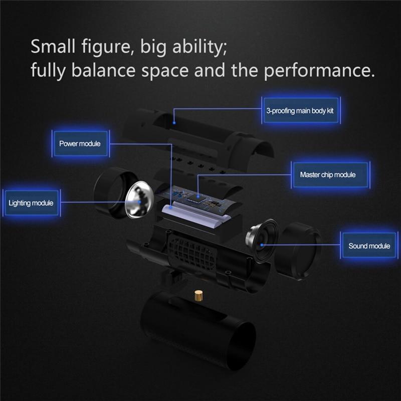 SHZONS OS2 Intelligent Outdoor Speaker Loudspeaker Box Power Bank Portable Power Source Flashlight Multi-function Column Speaker