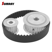 SUMRAY HTD5M Timing Pulley Belt Kit Reduction 1 2 5M 15T 30T Pulley Wheel Engraving Machine