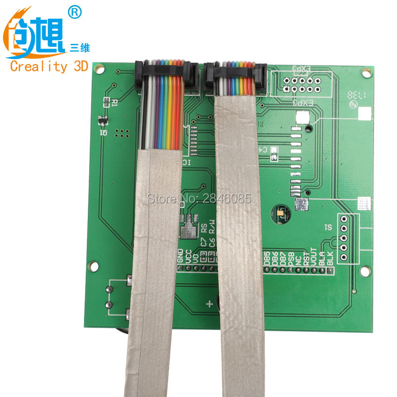 Factory Supply CREALITY 3D Printer Parts Replace 12864 Display Screen 10Pin Flat Cables For CREALITY CR-10 CR-10S 3D Printer
