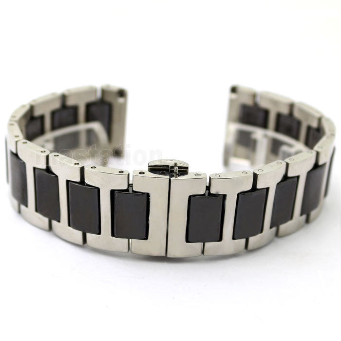 New Arrival 20mm New High Quality Black Ceramic With Silver Stainless Steel Watch Band Strap Bracelet Deployment Clasp Buckle карандаш для губ limoni lip pencil 27 цвет 27 variant hex name da9689