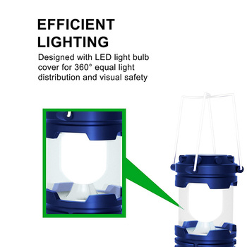 EZK20 LED Camping Lantern Flashlights Collapsible Solar Tent Light Gear Accessories Equipment for Outdoor Hiking Emergencies  1