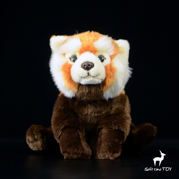 Kawaii Simulation Raccoon Doll Plush Animal Toys Children Red Panda Dolls Toy Gifts simulation rare birds puffin doll plush toy wild animals dolls ornaments children s toys gifts