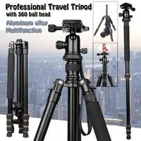64inch Q666 Portable Travel Tripod Aluminum Camera Stand Professional 360 Ball Head Tripode With Monopod for Canon Nikon Sony