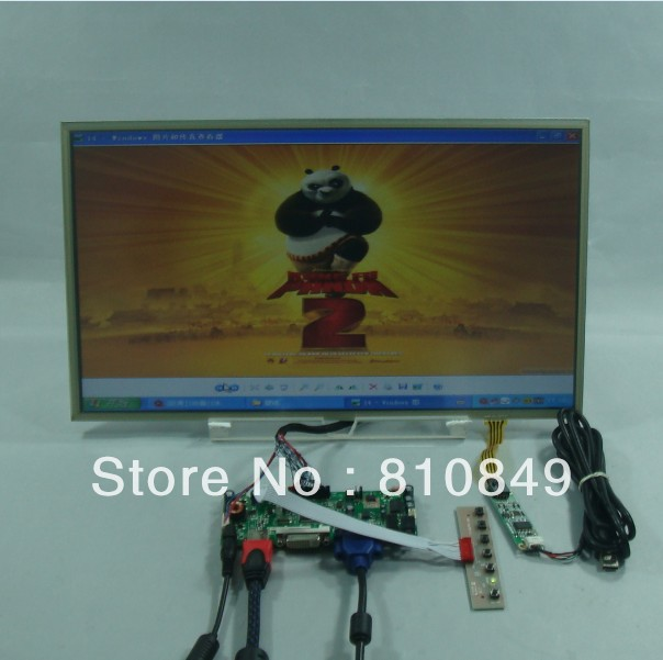 HDMI+DVI+VGA Control board+17.3inch 1600*900 B173RW01 N173FGE Lcd + Touch panel 8 4 8 inch industrial control lcd monitor vga dvi interface metal shell open frame non touch screen 800 600 4 3