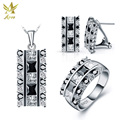 ANGG Fashion Jewelry Set 925 Sterling Sliver Jewelry Ring Earrings Necklace Women Square Cubic Zirconia Jewelry Include China