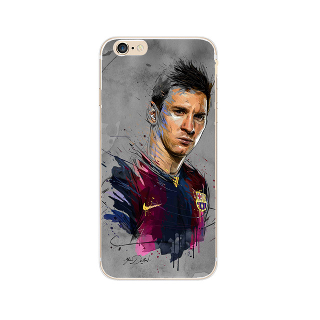 Barcelona Football Super Star Messi Neymar Ronaldo Phone Cases For iPhone 7 7Plus 6 6S Plus 5 5S SE Hard Plastic Case Cover Capa