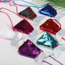 2019 Ladies Bag Women Clutch Bag Messenger Crossbody bag For Girls Coin Wallet Change Purse Pocket Mermaid Tail Sequin Party Bag