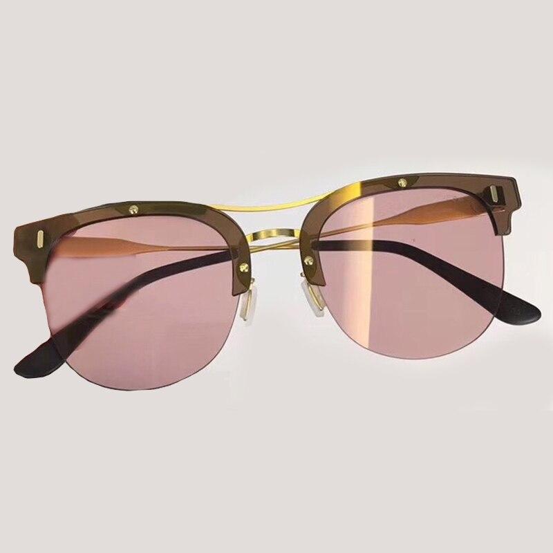 Uv400 Sunglasses Sunglasses Oculos Qualität mode no4 Sunglasses no2 Sol Designer no3 Frauen Vintage Sunglasses Weibliche Marke De Hohe Halbrand No1 Sonnenbrille gq74R
