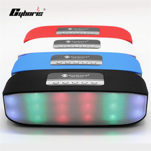 Portable Mini Outdoor Stereo New LED Light Wireless Bluetooth Speaker Loudspeaker Support With TF for xiaomi Iphone Sound BoxMP3(China)
