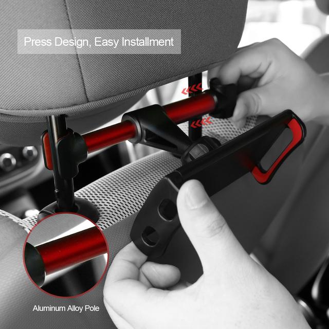 Car Back Seat Tablet Holder Case for iPad