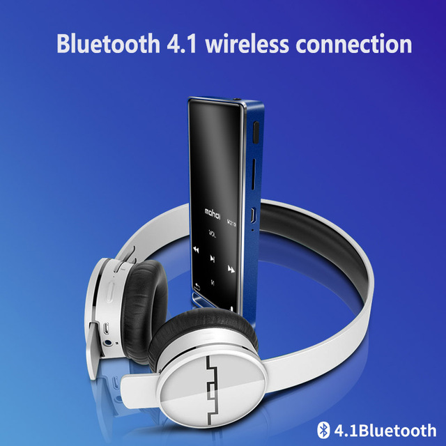 Bluetooth 4.1 MP3 Player Touch Key Ultra thin 8GB MP3 Music Player 1.8 Inch Color Screen Lossless Sound with FM E-book