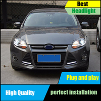 Car Styling Head Lamp For Ford Focus MK3 headlights 2012 2013 2014 led Headlight DRL front Bi Xenon Lens Double Beam HID KIT