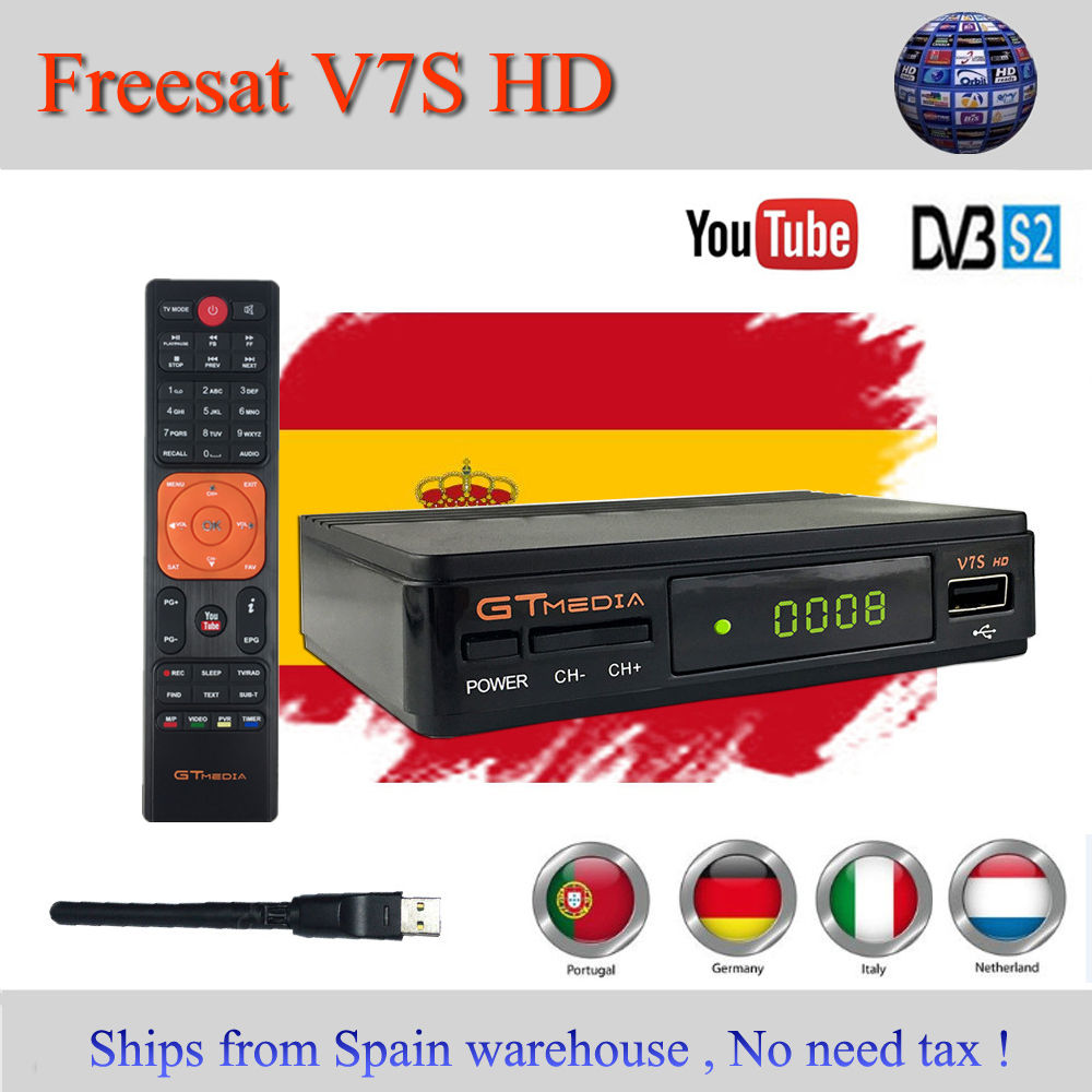 HOT SALE] Original GTMEDIA V7S HD DVB S2 HD Satellite TV