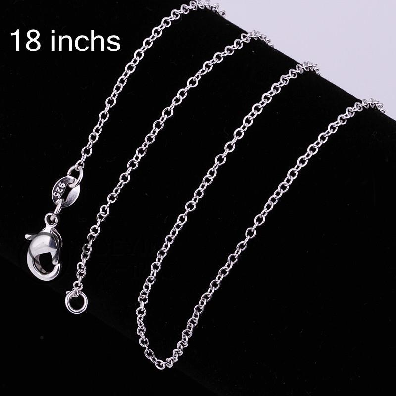 Fashion Unisex Trendy Link Chains Fine Free shipping Jewelry Silver Plated Jewelry C001 Hot Sale Fashion Different Sizes