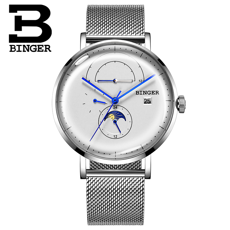 Original Swiss BINGER Men\\\'s Watch Automatic Mechanical Japan Movement 1