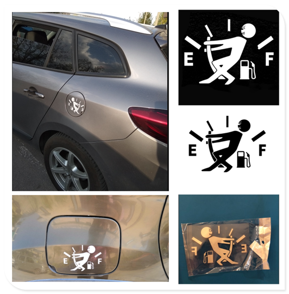 10CM * 14CM car styling fuel tank cap <font><b>logo</b></font> sticker decal funny for <font><b>Volvo</b></font> V60 <font><b>S60</b></font> XC60 XC40 360c V90 V40 image
