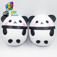 Panda Egg Jumbo Squishy Phone Straps DIY Decor Slow Rising Animal Kids Doll Toys Soft Squeeze