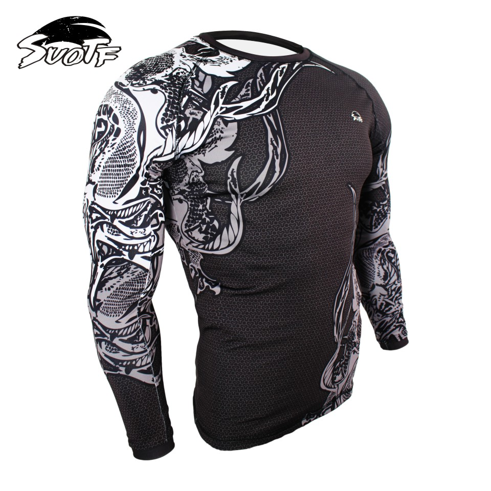 Printed Mma Rashguards BJJ Jersey Boxing Compression Tops CrossFit Trainning Shirts Gym Weight Lifting Running Man T Shirts