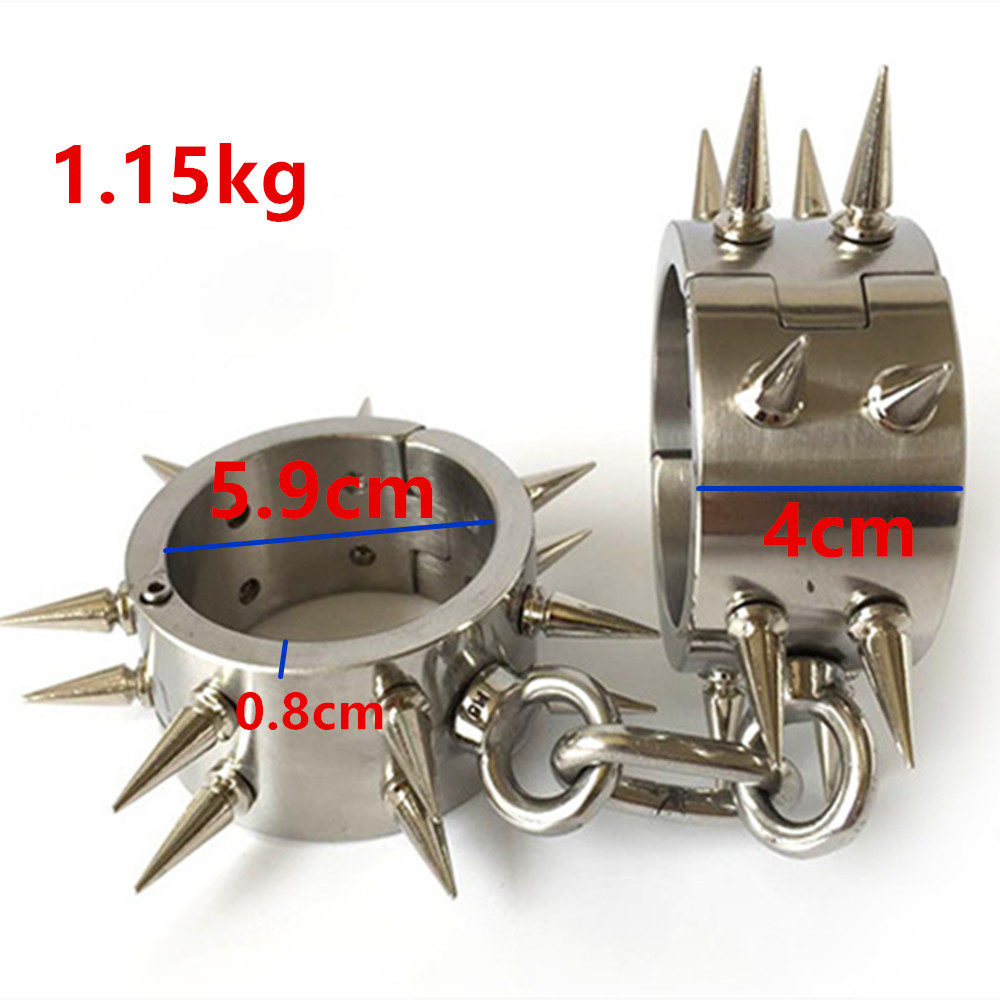 Stainless Steel Wrist Cuffs Metal Restraints Bondage Slave In Adult Games For Couples Fetish Sex Toys For Men And Women stainless steel anal butt plug metal anus stimulator in adult games for couples fetish sex toys for men and women