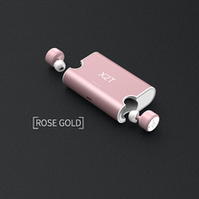 Sago X1T/X2T mini wireless earphone noise canceling headphone bluetooth headset with 1500mAh power bank box for iphone 8/android