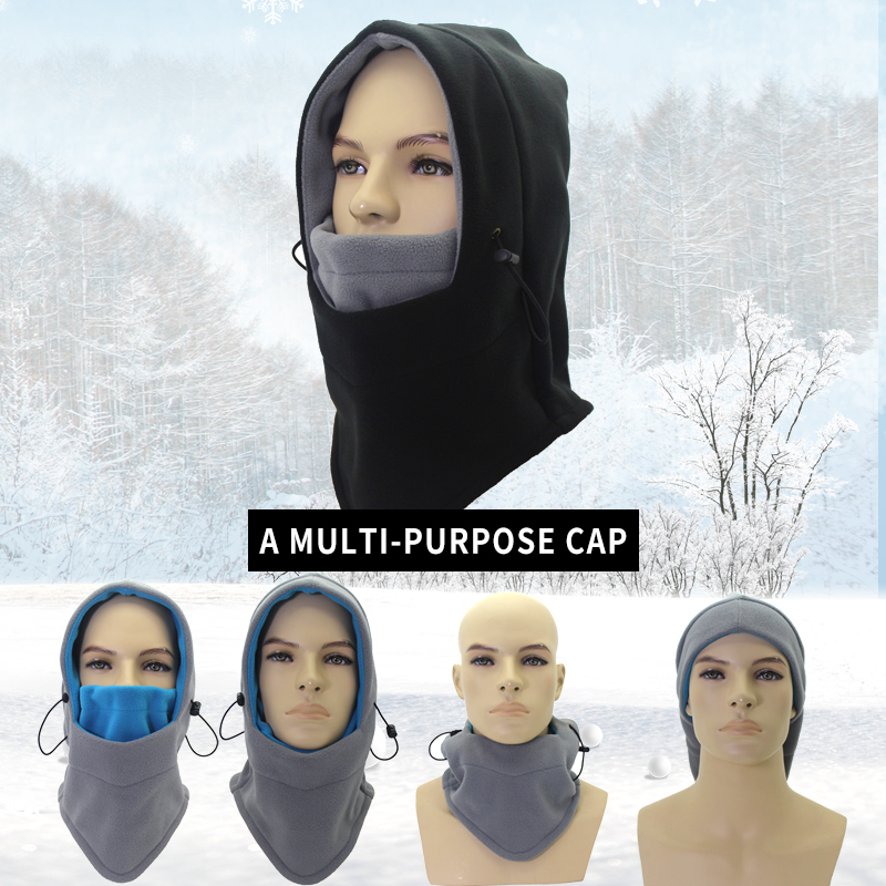 Image 5 - Outfly Winter Balaclava Hat Windproof Hat With Mask Unisex Ski Hat Mens Winter Fleece Hat Wrapped Warm Hat-in Men's Skullies & Beanies from Apparel Accessories on AliExpress
