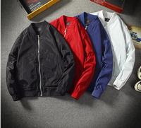 2019 New PT1703 Summer Autumn Mens Jacket Stand Collar Windbreaker Male Blue Baseball Jackets Casual Thin High Quality