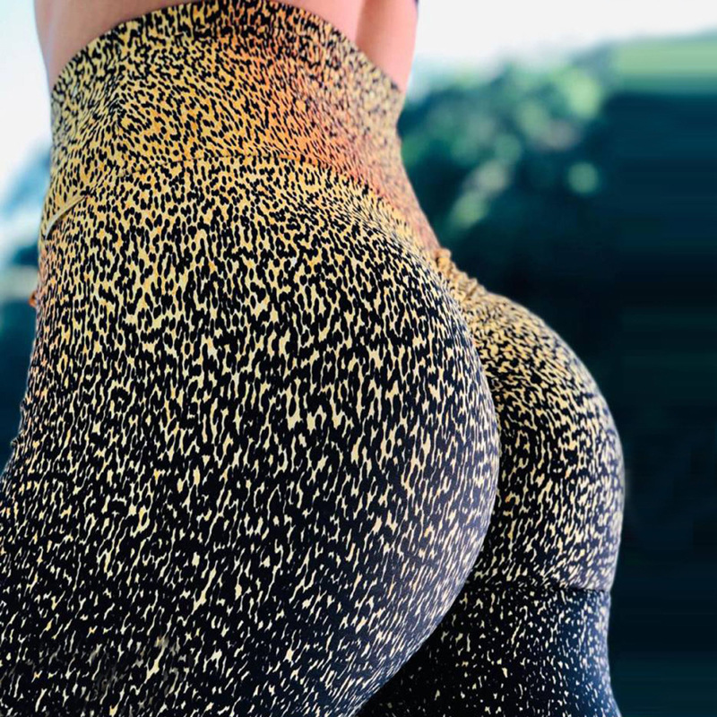 2019 New Leopard digital printing   Leggings   Women Slim Fitness   Leggings   High Waist Elastic Workout   Leggings   for Gym Sport Running