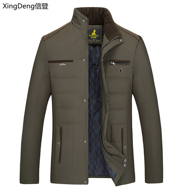 XingDeng 2020 new cotton Men's Winter Jacket fashion Jackets Casual Outerwear Snow Warm Collar Brand top Coat Parkas Big Size Others Men's Fashion