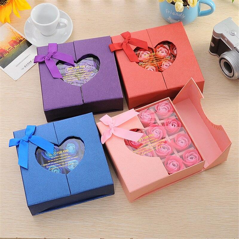 16 Gift Box Rose Valentines Day Wedding Anniversary Christmas Send His Wife Girlfriend Romantic Practical Birthday