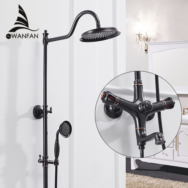 Shower Faucets Single Holder Dual Control Bathtub Faucet Single Handle Top  Rain Shower With Slide Bar
