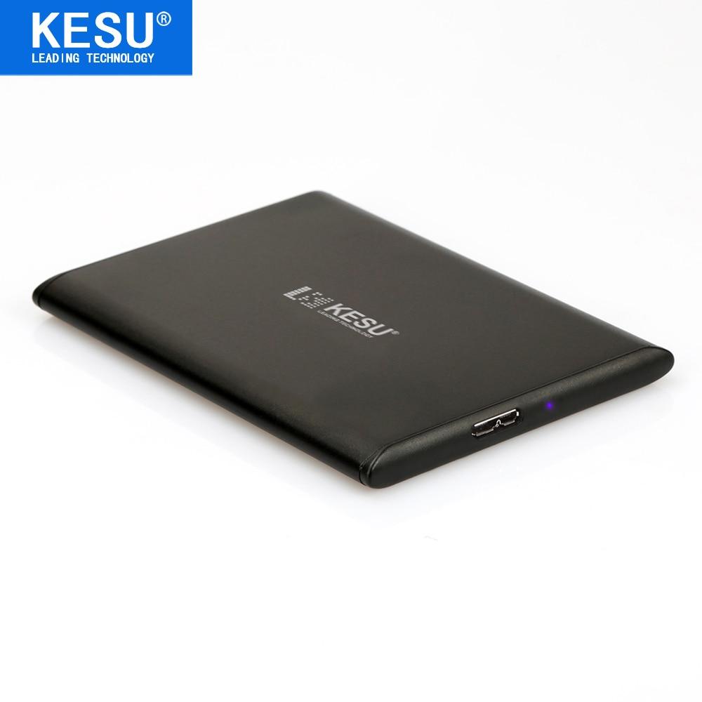 KESU Slim 9.5mm/0.37in 2.5 Metal Portable External Hard Drive USB 500GB Storage HDD External HD Hard Disk for PC Mac PS3