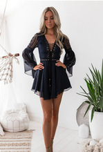 2019 spring dresses plus size party dress women clothes  fashion bohemian gothic lace casual vintage long sleeve womens