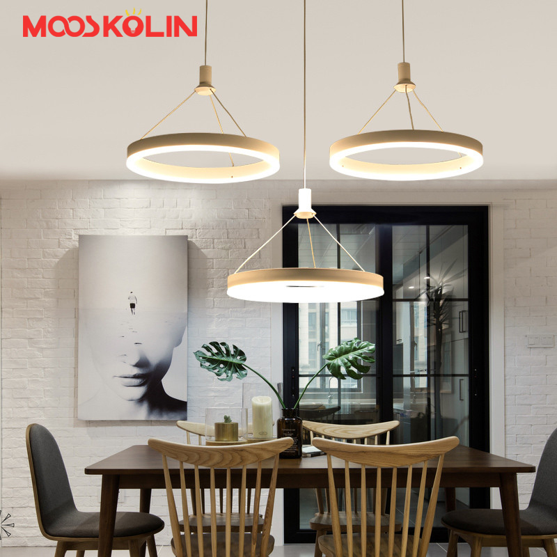 3 Heads New Creative Modern LED Pendant Lights Round Hanging Lamp Kitchen Lamps Dining Room Living Room Pendant Light 110V 220V modern round glass pendant light grey color clear color amber color pendant lamps with bulbs 110v 220v led pendant lights